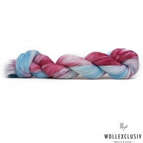 WOLLEXCLUSIV COTTON LACE ∣ BLUE LIQUID & RASPERRY ∣ NACHFÄRBUNG