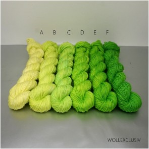 COLORWAY │ WOLLE FARBVERLAUF │NEON GREEN