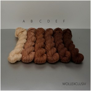 COLORWAY ∣ WOLLE FARBVERLAUF∣ NOUGAT BROWN