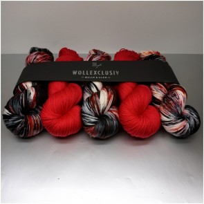 WOLLEXCLUSIV COLOR KIT ∣ MERINO X SOCKS 6ply ∣ HOT LADY