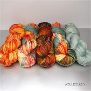 WOLLEXCLUSIV COLOR KIT ∣ MERINO X SOCKS 6ply ∣  SUNSET IN THE HILLS