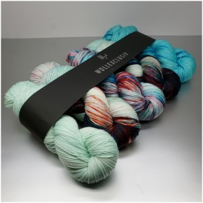 WOLLEXCLUSIV COLOR KIT ∣ MERINO X SOCKS 6ply ∣  AS COLD AS ICE