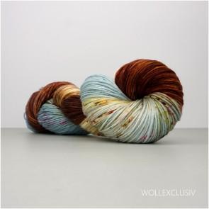 MERINO X SOCKS 6ply ∣ BLUE & BROWN