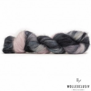 SILK MOHAIR LACE ∣ BLACK ROSE