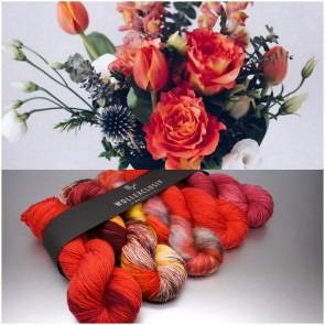 YARN MIX ∣ RED FLOWERS