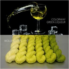 COLORWAY ∣ WOLLE FARBVERLAUF ∣ GREEN LIQUEUR