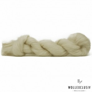 SILK MOHAIR LACE ∣ WHITE