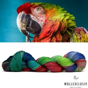 MULBERRY SILK SINGLE ∣ RAINBOW MACAW