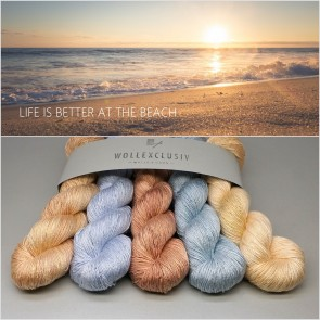 WOLLEXCLUSIV KIT ∣ MULBERRY SILK SINGLE ∣ LIFE IS BETTER AT THE BEACH