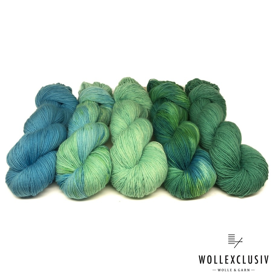 WOLLEXCLUSIV COLOR KIT ∣ GREEN WAXES